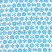 Ice Flakes Folk Art Holiday Fabric - per quarter metre